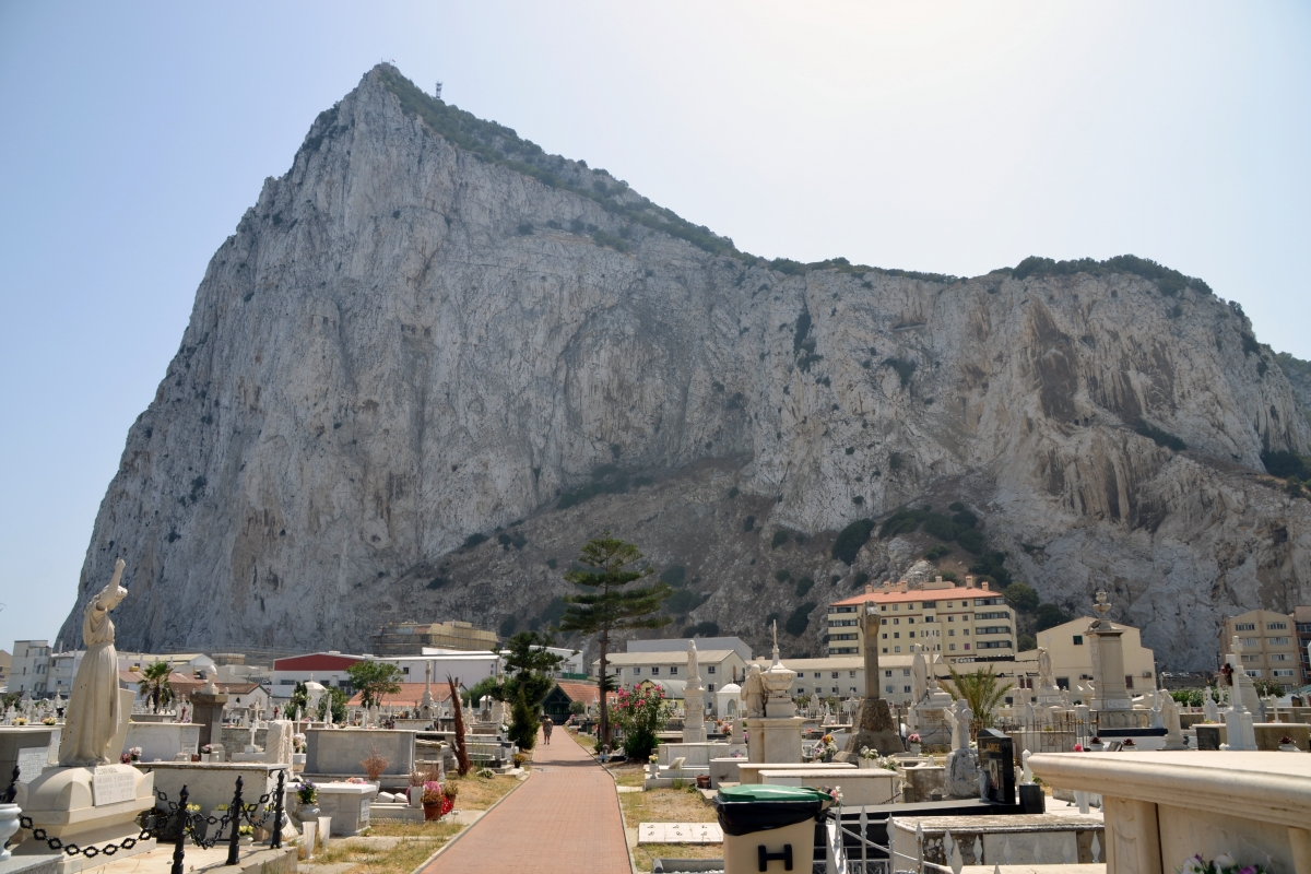 Widok gibraltarskiej skały.