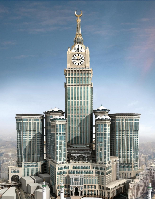 601m, Abraj Al Bait Tower w Mekce
