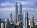 452m, Petronas Towers w Kuala Lumpur