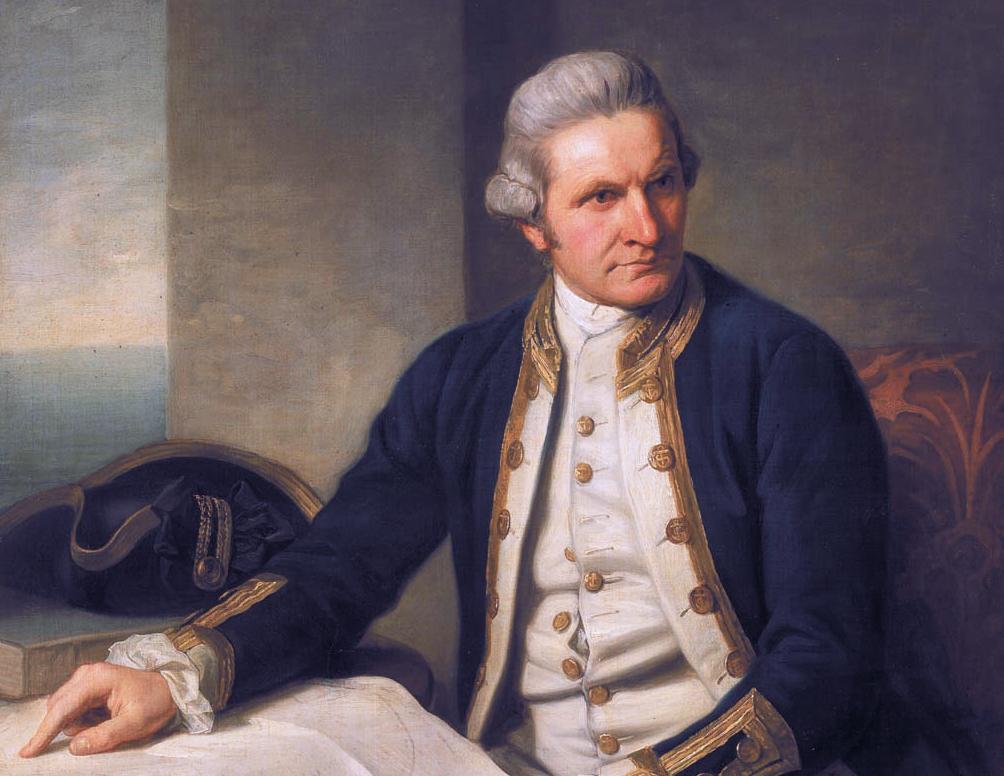 James Cook (1728-1779) - wykonywał morskie zlecenia JKM